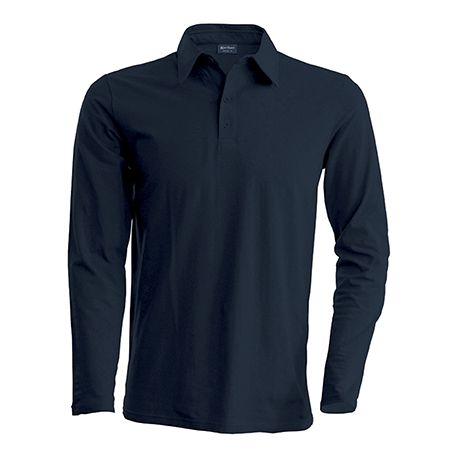 Polo Homme Marron chocolat Manches longues